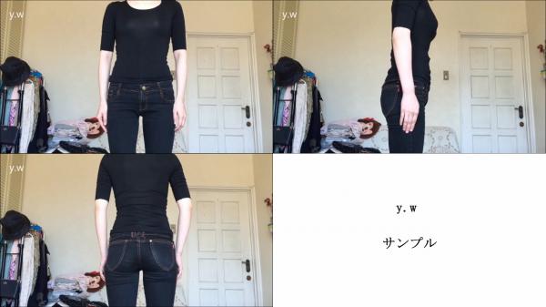 女性モデル動画(前・横・後)2人収録